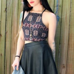 Abercrombie & Fitch Patterned Crop Top (L)